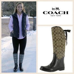 Coach Knee High Water Proof Boots